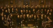 Chess players (1874-1880) par Anthony Rosenbaum. © National Portrait Gallery, London